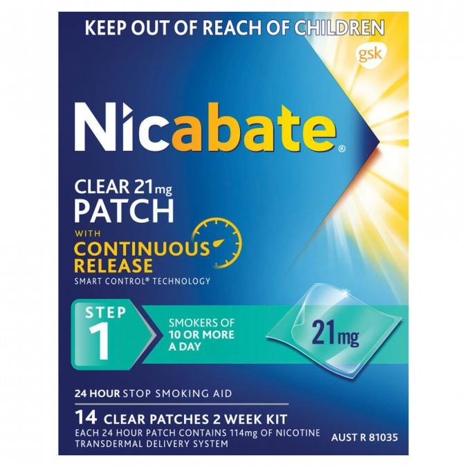Nicabate Patches Clear 21mg X 14