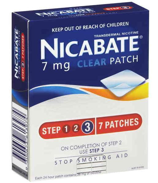 Nicabate Patches Clear 7mg X 7