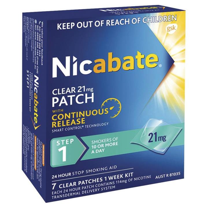 Nicabate Patches Clear 21mg X 7