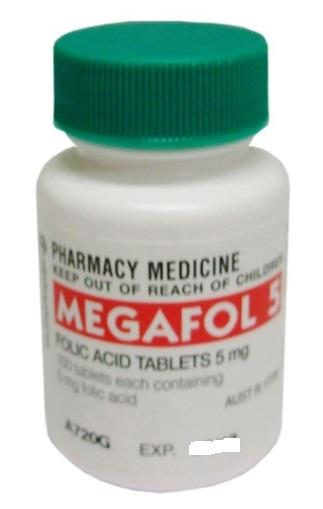 Megafol Folic Acid 5mg Tab X 100