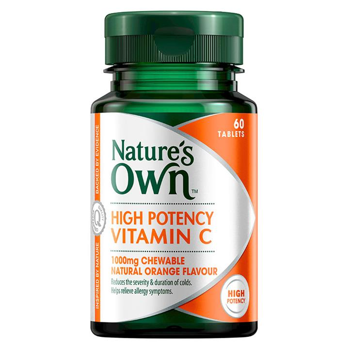 Nature's Own Vitamin C 1000mg Chewable Tab X 60