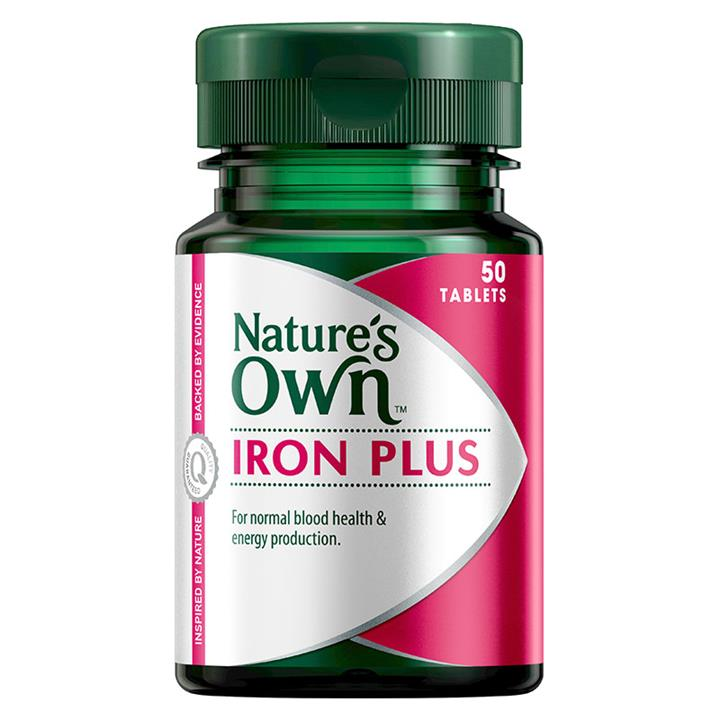 Nature's Own Iron Plus 50mg Tab X 50