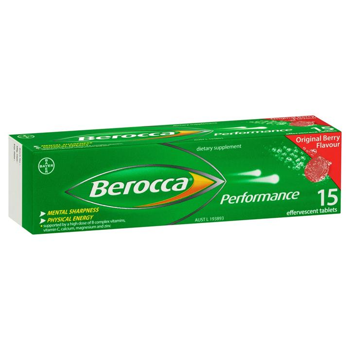 Berocca Performance Effervescent Original Tab X 15