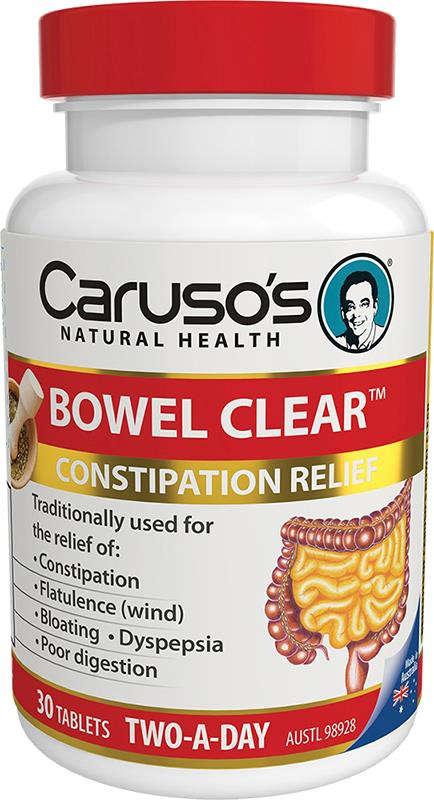 Caruso's Natural Health Bowel Clear Two A Day Tab X 30