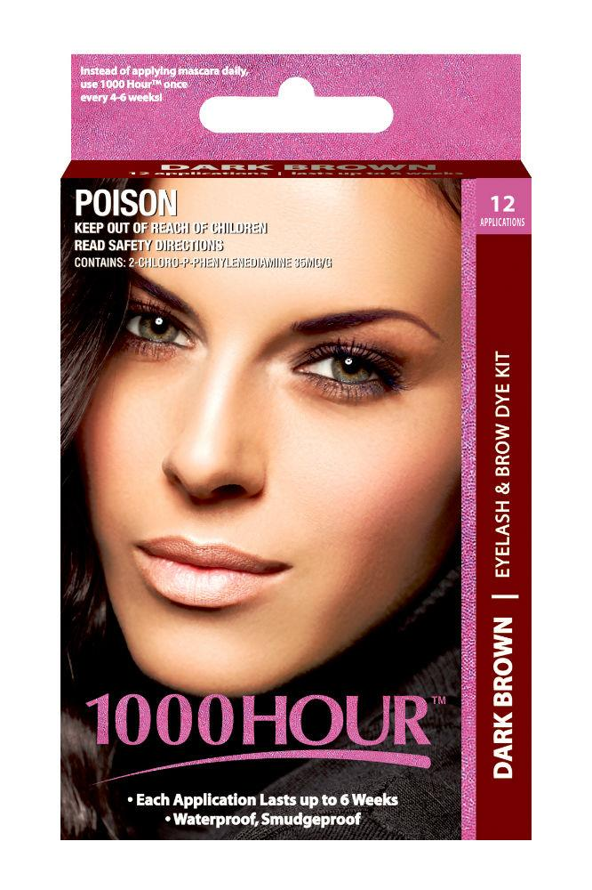 1000 Hour Eyelash & Brow Dye Kit (Dark Brown)