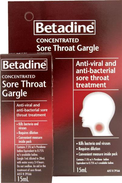 Betadine Sore Throat Gargle (Concentrated) 15ml