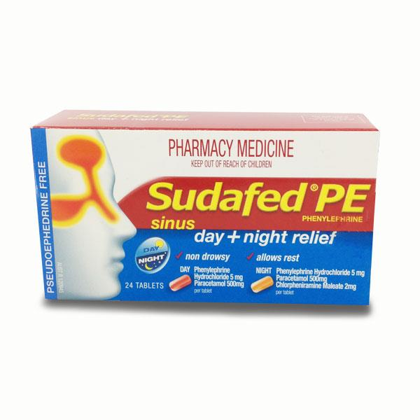 Sudafed PE Sinus Day + Night Relief Tab X 24