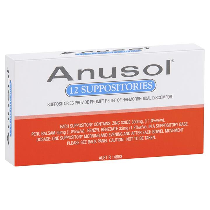 Anusol Suppositories X 12