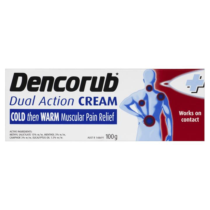 Dencorub Dual Action Pain Relieving Cream 100g