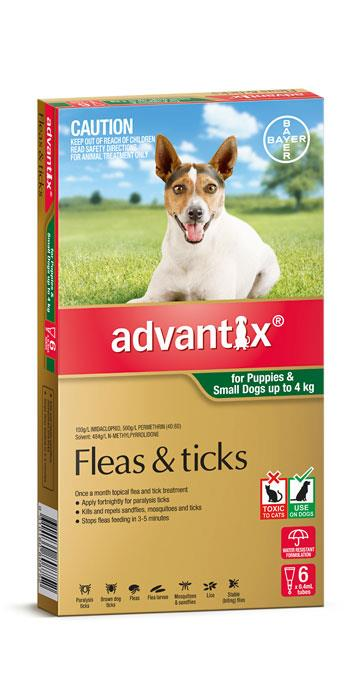 Advantix For Small Dogs (Up To 4kg) – 6 Pack