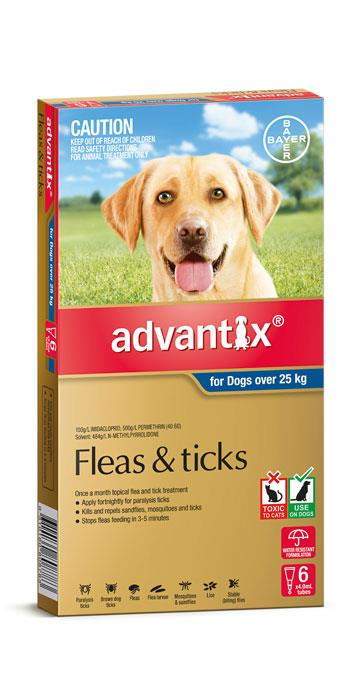 Advantix For Extra Large Dogs (Over 25kg) - 6 Pack