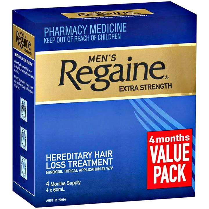 Regaine (Rogaine) Men Extra Strength Solution 5% 60ml (3 months supply) - Bonus 4 Months For Price Of 3