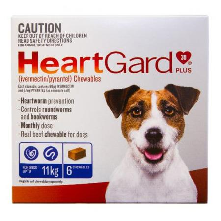 Heartgard Plus For Small Dogs (Up To 11kg) Tab X 6