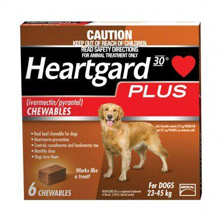 Heartgard Plus For Large Dogs (23-45kg) Tab X 6