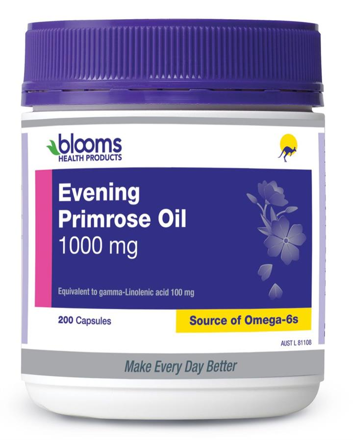 Henry Blooms Evening Primrose Oil 1000mg Cap X 200