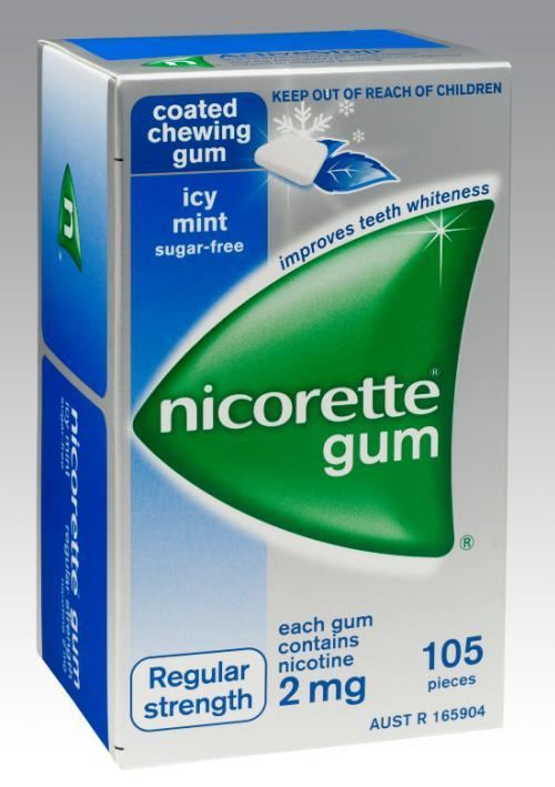 Nicorette Chewing Gum 2mg Icy Mint X 105