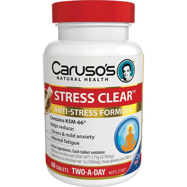 Caruso's Natural Health Stress Clear Tab X 60