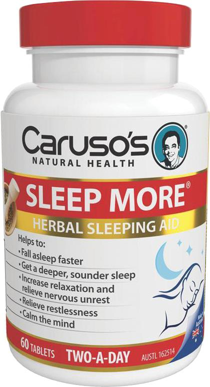 Caruso's Natural Health Sleep More Two A Day Tab X 60