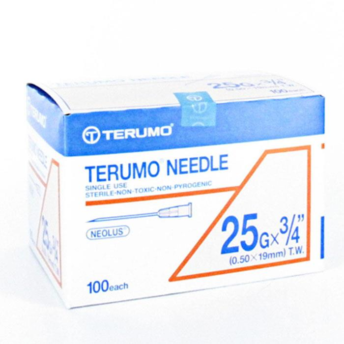 Terumo Needle 25g X 3/4 (0.50X19mm) X 100