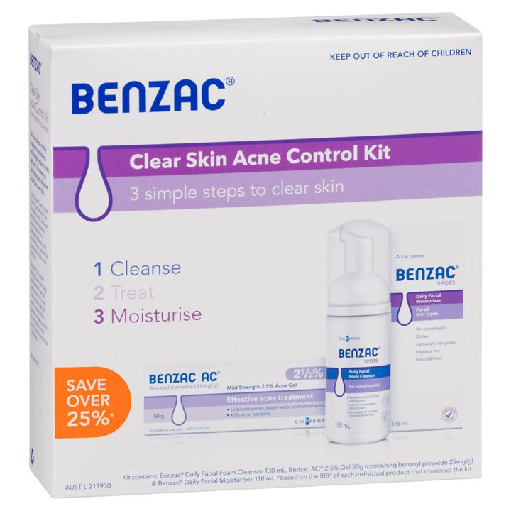Benzac Clear Skin Acne Control Kit