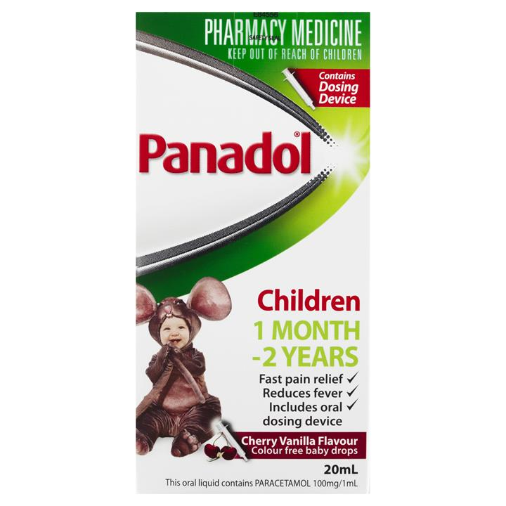 Panadol Baby Drops Colour Free With Oral Dosing Device 20ml