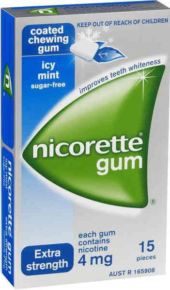 Nicorette Chewing Gum 4mg Icy Mint X 15