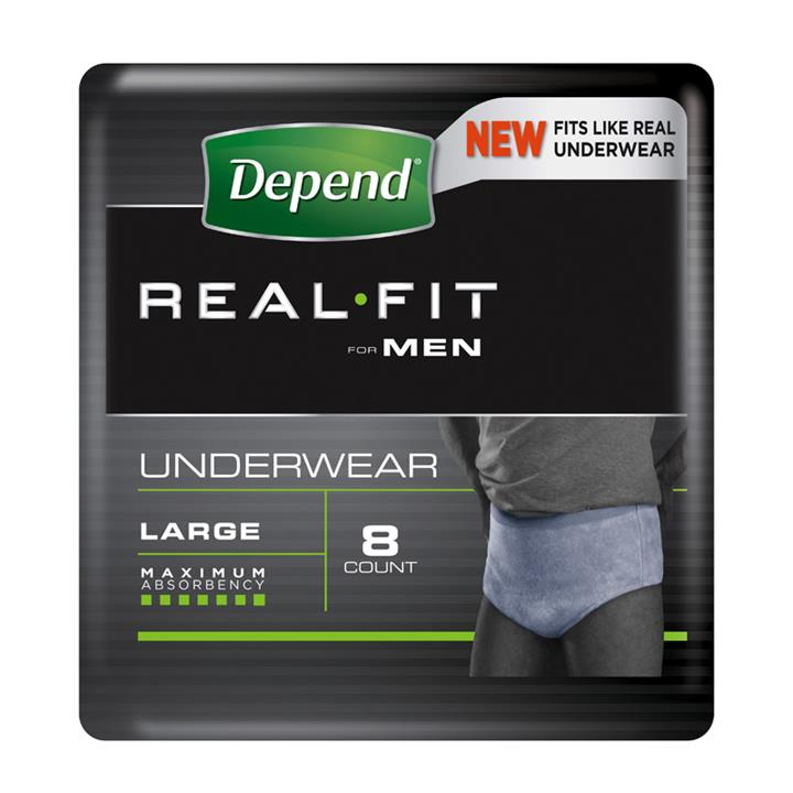 Depend Real Fit Underwear for Men Large X 8