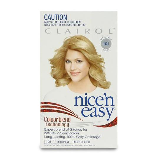 Clairol Nice And Easy 101 Natural Baby Blonde