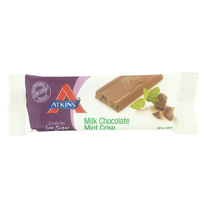 Atkins Endulge Milk Chocolate Mint Crisp 30g X 15