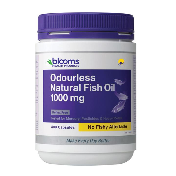 Henry Blooms Omega 3 Odourless Natural Fish Oil 1000mg Cap X 400