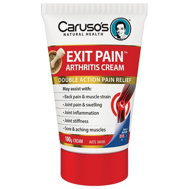 Caruso's Natural Health Exit Pain Arthritis Cream 100g