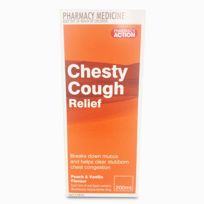 Pharmacy Action Chesty Cough Relief 200ml (Generic for Bisolvon Chesty Forte)