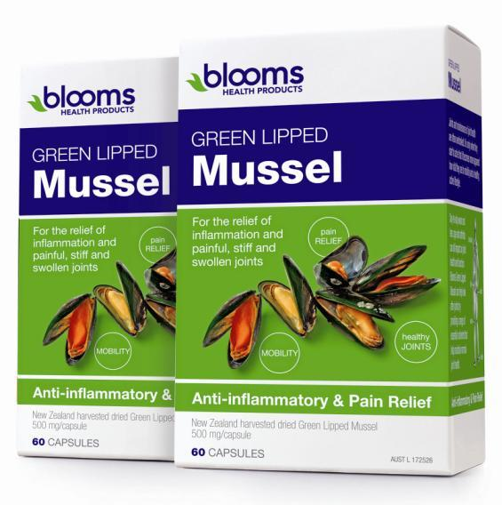 Henry Blooms Green Lipped Mussel 500mg Cap X 120
