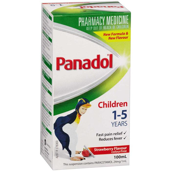 Panadol Children 1-5 Years Colourfree (Strawberry) 100ml