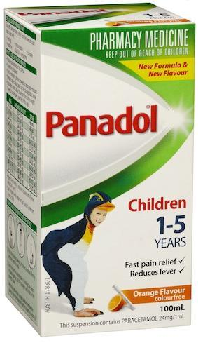 Panadol 1-5 Years Colourfree (Orange) 100ml