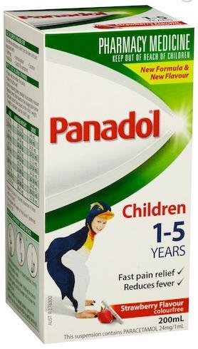 Panadol Children 1-5 Years Colourfree (Strawberry) 200ml