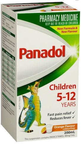 Panadol 5-12 Years Colourfree (Orange) 200ml