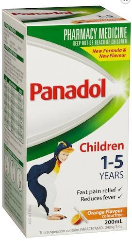 Panadol 1-5 Years Colourfree (Orange) 200ml