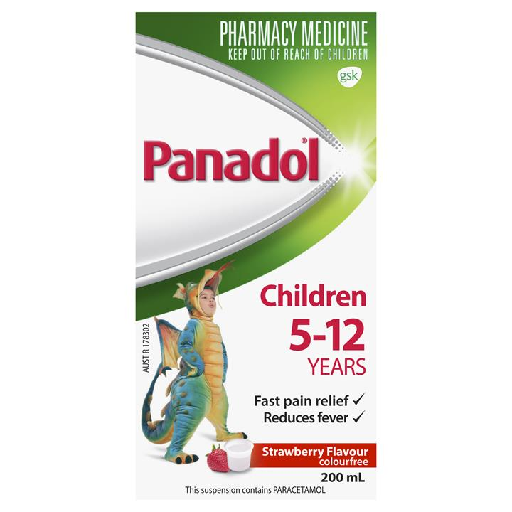 Panadol 5-12 Years Colourfree (Strawberry) 200ml