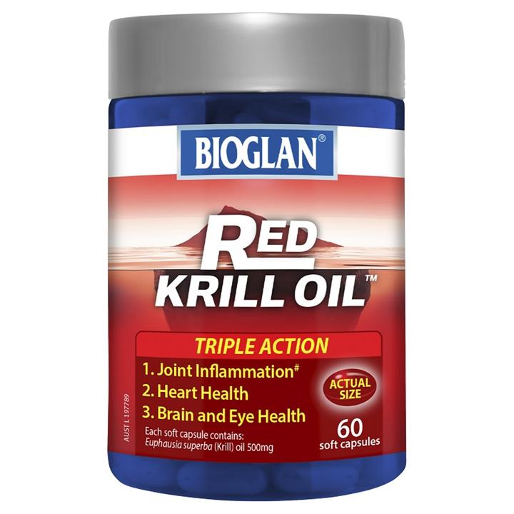 Bioglan Red Krill Oil Triple Action 500mg Cap X 60