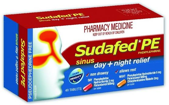 Sudafed PE Day & Night Relief Tab X 48