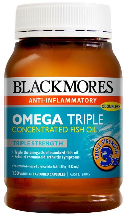 Blackmores Omega Triple Concentrated Fish Oil Cap X 150