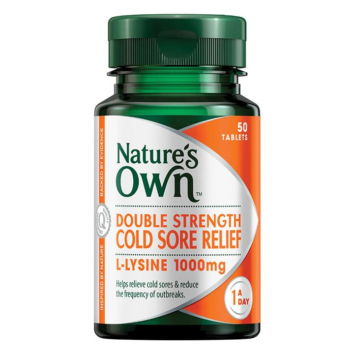 Nature's Own Double Strength Cold Sore Relief Tab X 50