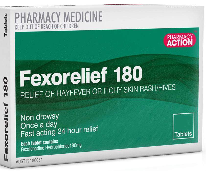 Fexorelief 180mg Tab X 10 (Generic for TELFAST)