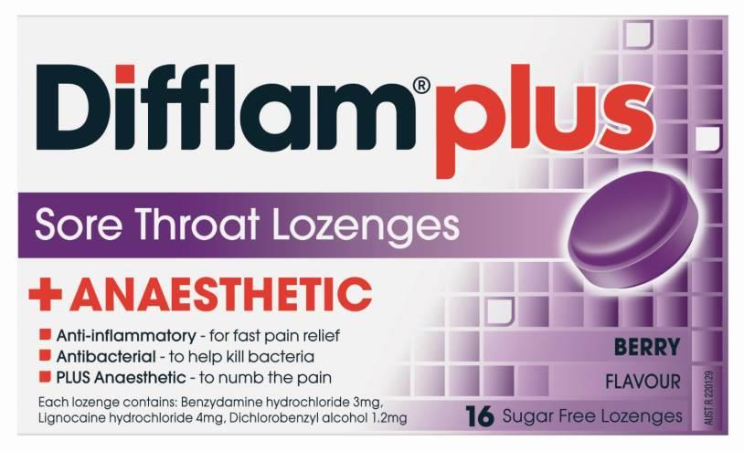 Difflam AAA Lozenges Berry Sugar Free X 16