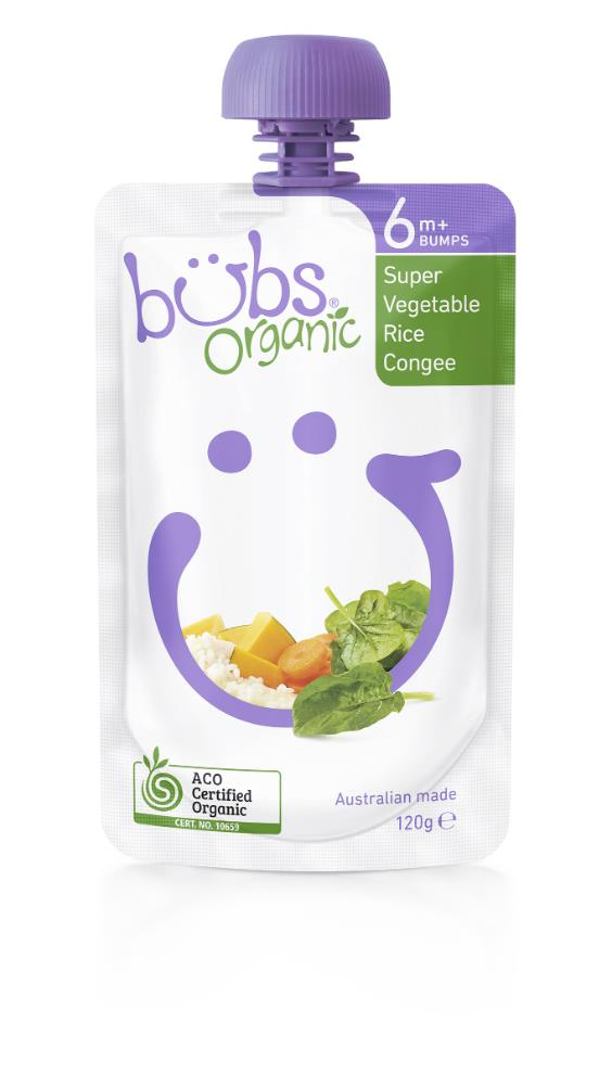 Bubs Super Vegetable Rice Congee 120g
