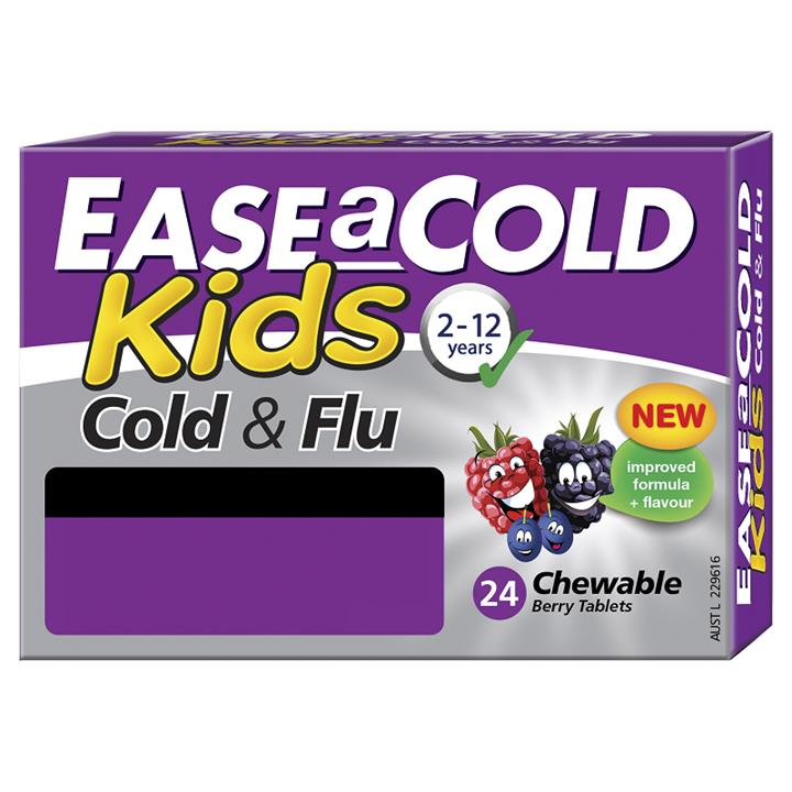 Ease A Cold Kids Cold & Flu Chewable Berry Tab X 24