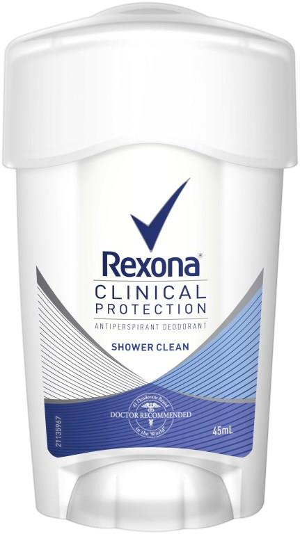 Rexona Anti-Perspirant Deodorant Clinical Protection For Women (Shower Clean) 45ml