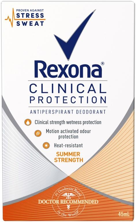 Rexona Anti-Perspirant Deodorant Clinical Protection For Women (Summer Strength) 45ml