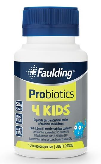 Faulding Probiotics 4 Kids Powder 50g